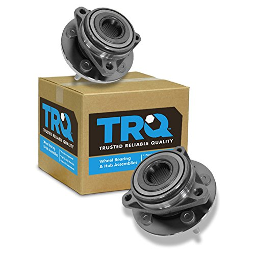 TRQ Front Wheel Hub & Bearing Pair Set for 99-03 Ford ()