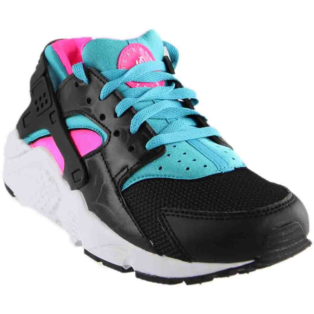 NIKE Air Huarache Run SE (GS) kids sneakers B01GXOO0J8 7 M US Big Kid|Black/White-pink Blast-gamma Blue