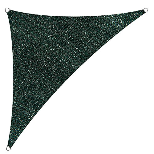 Cool Area Sun Shade Sail for Patio, Outdoor UV Block, Right Triangle 16'5'' X 16'5'' X 22'11'', Green by Cool Area