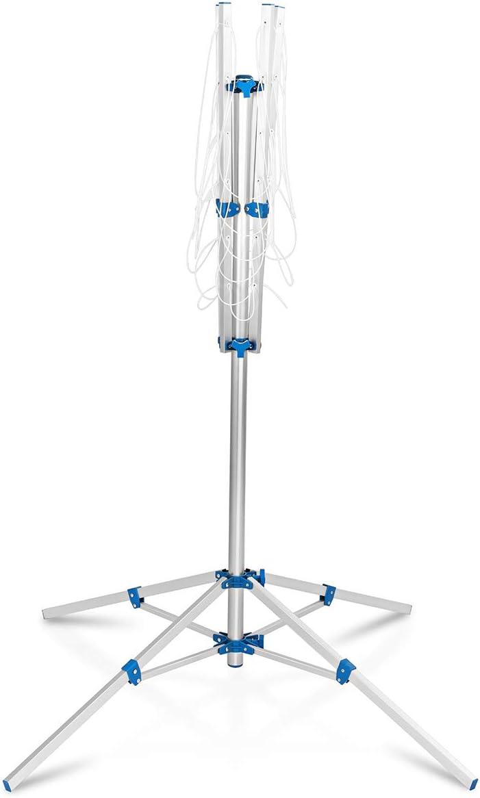 L DREAMADE S/échoir Parapluie /à Linge Etendoir /à Linge Longueur du Bras 78//140CM et Corde /à Linge 16//50CM avec Support /à Quatre Pieds//Disponible d/'Ins/érer du Sol en Aluminium et Plastique