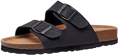 Amazon.com | CUSHIONAIRE Women's Lane Cork Footbed Sandal with + ...