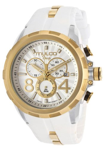 MW1-29382-012 Mulco Deep Scale Chronograph Unisex Watch - Silver Dial