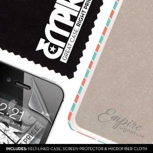 EMPIRE Signature Series One Piece Slim-Fit Case Tasche Hülle for Apple iPhone 4 / 4S - Mint Chevron