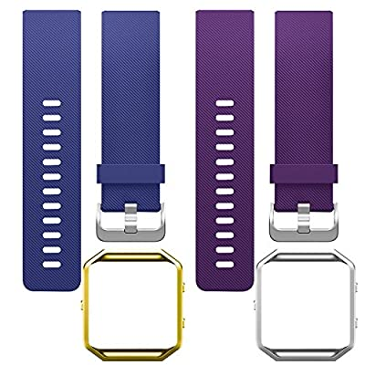 SKYLET Fitbit Blaze Bands, Soft Replacement Wristband with Steel Frame for Fitbit Blaze Bracelet (No Tracker)