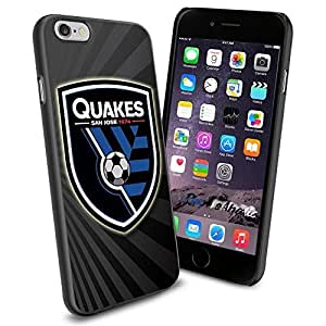 Soccer MLS SAN JOSE EARTHQUAKES SOCCER CLUB FOOTBALL FC Logo , Cool iPhone 4/4s Smartphone Case Cover Collector iphone TPU Rubber Case Black