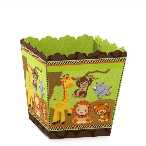 Funfari - Fun Safari Jungle - Party Mini Favor Boxes - Baby Shower or Birthday Party Treat Candy Boxes - Set of 12 -