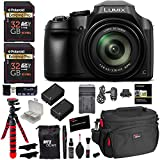 Panasonic Lumix DC-FZ80 Digital Camera, 32GB SDHC Memory Card, 2 Spare Batteries, DSLR Camera Bag, Ritz Gear Cleaning Kit, Tripod and Accessory Bundle For Sale