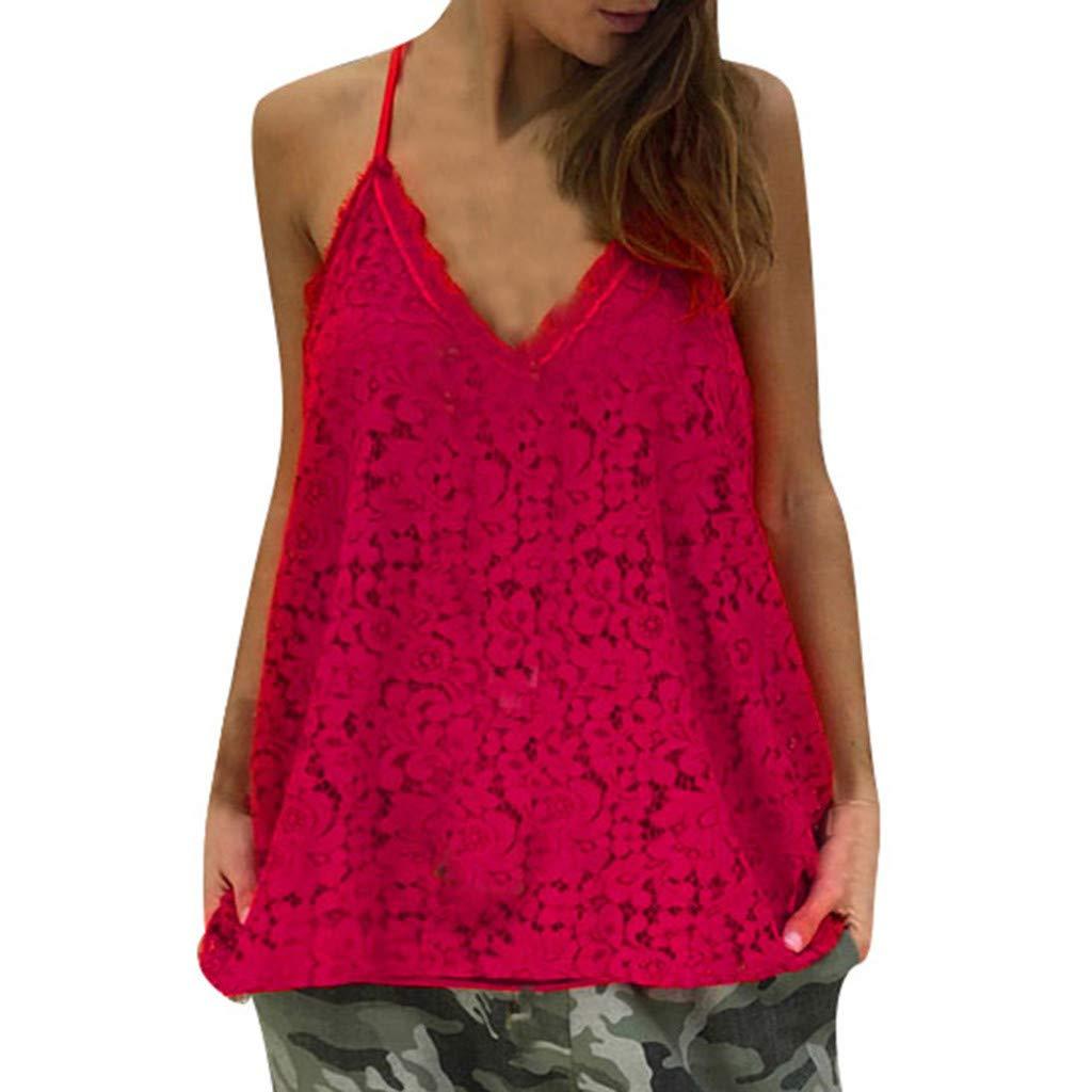 Chaleco de Mujer Camiseta Sin Mangas Cuello en v Color sólido ...