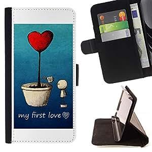 For LG Nexus 5 D820 D821 Case , Amor Primer Amor- la tarjeta de Crédito Slots PU Funda de cuero Monedero caso cubierta de piel
