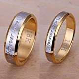 Sumanee 6-10 Jewelry Men Fashion Silver Plated Steel Forever Love Couple Ring (wamen#6)