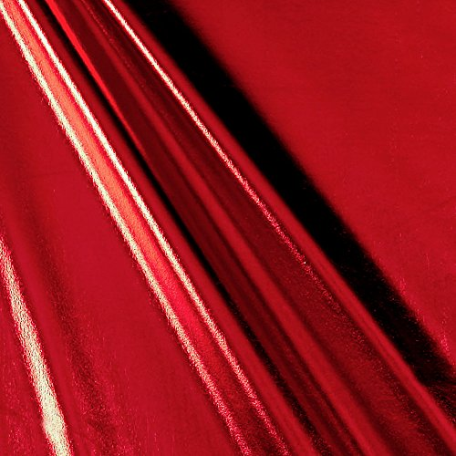 Ben Textiles Foil Lame Knit Spandex Red Fabric By The -