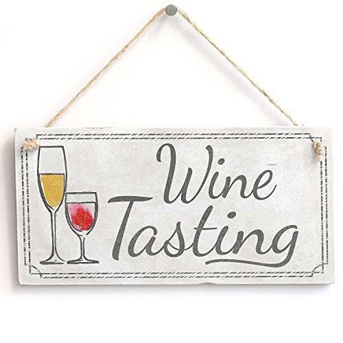 Meijiafei 'Wine Tasting' PVC Sign - Vintage PVC Door Sign/Plaque 10