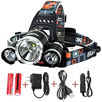 Brightest And Best 8000 Lumen Bright Headlamp Flashlight IMPROVED LED With Rechargeable Batteries For Reading