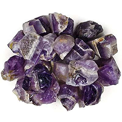 Hypnotic Gems Materials: Banded Chevron Amethyst Stones from India - Raw Natural Rough Crystals for Cabbing, Tumbling, Lapidary, Polishing, Wire Wrapping, Wicca & Reiki Crystal Healing