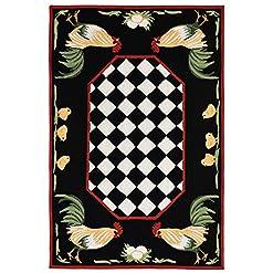 Garden and Outdoor Liora Manne Frontporch Indoor/Outdoor Rug, 2′ x 3′, Rooster outdoor rugs
