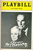 img - for Playbill, John Golden Theatre: The Petition, April 1986, Vol. 86, No. 4 (Jessica Tandy, Hume Cronyn) book / textbook / text book