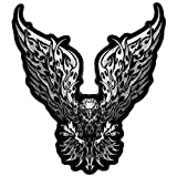 Hot Leathers, TRIBAL EAGLE, High Thread Embroidered Iron-On / Saw-On Rayon PATCH - 5' x 5', Exceptional Quality