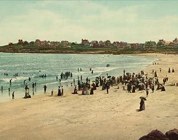 Amazon com: Vintage Travel Poster - York Beach Maine 24 X 19