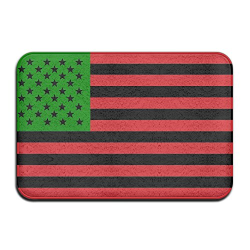 Inside & Outside Floor Mat African American Flag - Red Black And Green Design Pattern For Hallways And Foyers