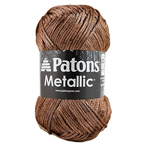 Patons  Metallic Yarn - (4) Medium Gauge  - 3 oz -  Gold -   For Crochet, Knitting & (Metallic Crochet)