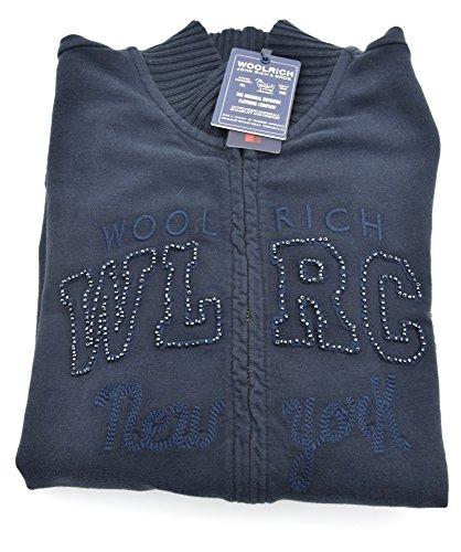 Cotone Scuro Blue Sr40 Art Bambina Blu Felpa Dark Junior Woolrich Wkfel0881 cvRPASqWU