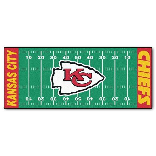 FANMATS NFL Kansas City Chiefs Nylon Face Football Field -