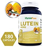 Best Lutein 40mg 180 capsules (NON-GMO & Gluten Free) Vision Support Supplement