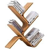 Bookshelf Wooden Tree Bookshelf Home Desktop Small Bookshelf Study Room Multilayer Simple Storage Rack (Color : Brown…