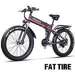 51IcbDB cnL. SS150 sheng milo 26 Pollici Fat Tire Electric Bike 1000W 48V Snow E-Bike Shimano 21 velocità Beach Cruiser Mens Women Mountain…