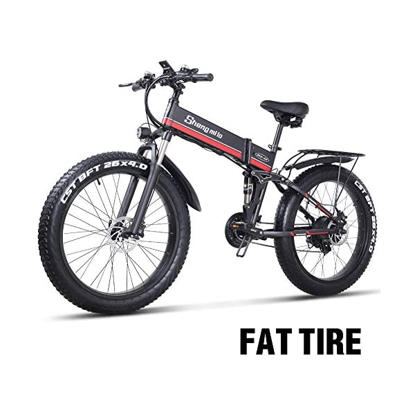 26 Pollici Fat Tire Electric Bike 1000W 48V Snow E-Bike Shimano 21 velocità Beach Cruiser Mens Women Mountain e-Bike… 1 spesavip