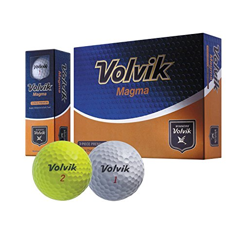 Volvik Magma 3 Piece Non Usga Conforming Super Distance lllegal Golf Ball Yellow