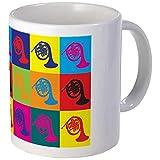 11 ounce Mug - French Horn Pop Art Mug - S White