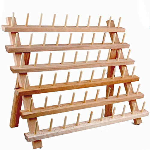 NW Wooden Thread Holder Sewing and Embroidery Thread Rack and Organizer Thread Rack for Sewing ()