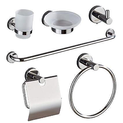 Accessori Per Il Bagno Acciaio.Wsj Set Bagno Acciaio Inox 304 Accessori Bagno Set Di Sei