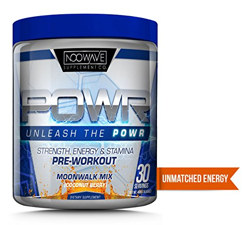 NooWave Supplement Co. POWR - Strength, Energy & Stamina Pre-Workout - Nootropic Infused - Efficacious Dosages of NALT, Beta Alanine, and Betaine Anhydrous - 30 Servings