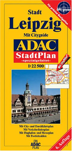 ADAC Stadtpläne, spezialgefaltet, Leipzig
