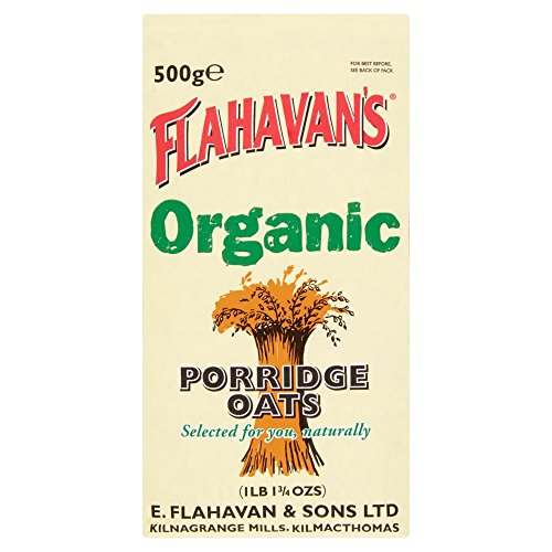(FLAHAVAN'S Organic Porridge Oats, 17.75-Ounce Bags (Pack of 6))