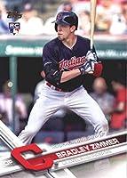 2017 Update Series #US118 Bradley Zimmer Cleveland Indians Baseball Rookie Debut Card