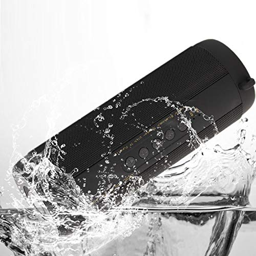 IPX5 Waterproof Portable Bluetooth Speaker with FM Radio, HiFi Enhanced Bass Superior Sound, Flash Light, TF Card, Built-in Mic ireless Speakers for Outdoor Party ()