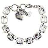 "Mariana ""On A Clear Day Rectangle Tennis Bracelet, Silver Plated, 8"" 4414 001001"