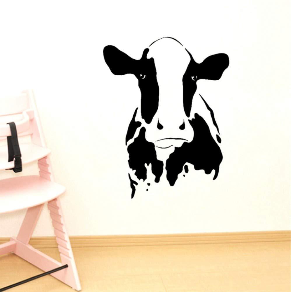 Zyunran Cabeza linda de la vaca arte de la pared calcomanías ...