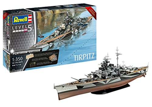 Revell 05160 Tripitz TIRPITZ (Platinum Edition), Multi Colour, 1:350 Scale