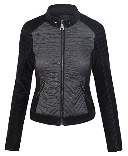 Femme Creek Noir Blouson Rock X large Selection BtwwYd