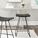 Safavieh Home Collection Akito Mid-Century Modern Black 26-inch Counter Stool (Set of 2)