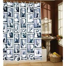 BetterJonny - Miss Marilyn Monroe Bathroom Waterproof Fabric Shower Curtain Free 12 Hooks Gift