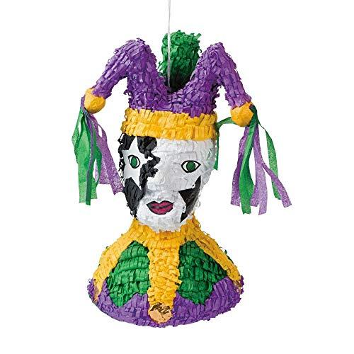 Papier-Mâché Mardi Gras Jester Piñata]()