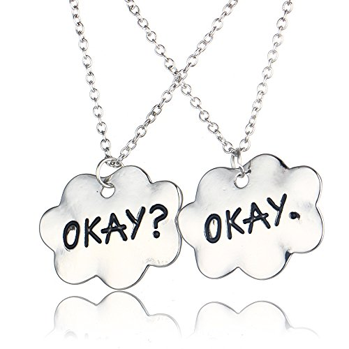 Okay? Okay. The Fault in Our Stars Pendant Necklace Gold Plated BFF Couple Lovers Gift (silver)