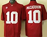 Men's Alabama Crimson Tide A.J. McCarron #10 College Football Jersey Red