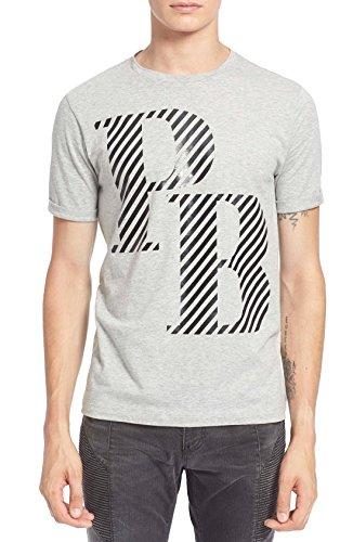 Pierre Balmain 'PB' Graphic T-Shirt, Grey (50 (US - Sale Men Balmain