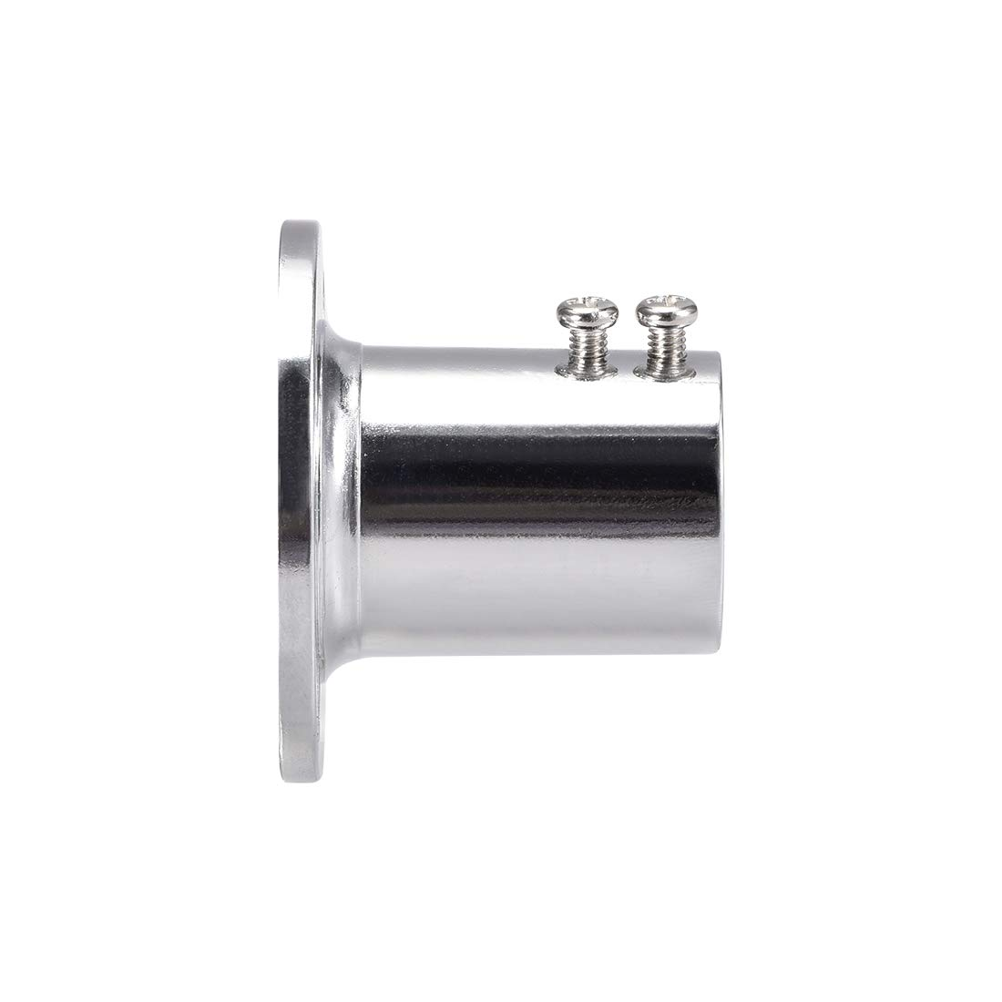 uxcell Closet Wardrobe Rod Flange,25mm//1inch Dia Long Socket Bracket Support Holder for Pipe 2Pcs